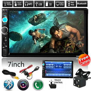 7-039-039-HD-Bluetooth-Touch-Screen-Car-Stereo-Radio-2-DIN-FM-MP5-USB-AUX-with-Camera