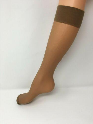 Wide Fit or Reg Ladies Light support Knee High Pop Socks in Nat Tan  Factor 6