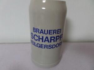 alter 1 L Bierkrug Maßkrug Brauerei Scharpf Heilgersdorf