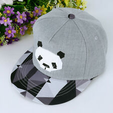 Men's Women Cap Panda Cartoon Hip Hop Kpop Bboy Baseball Snapback Hat Adjustable