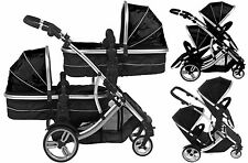 Duellette 21 CB Twin babies double Pushchair Pram carrycot Tandem travel system
