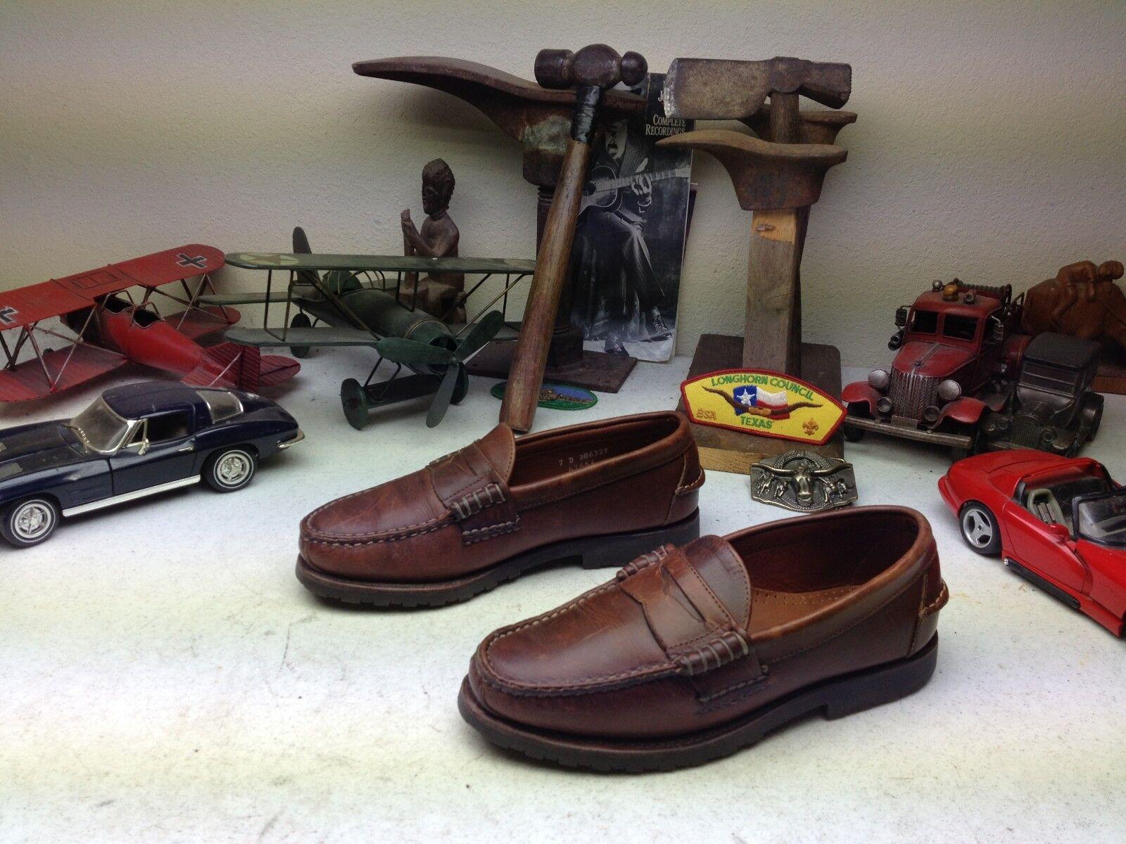 economico e alla moda USA DISTRESSED ALLEN EDMONDS ROCKLAND Marrone SLIP ON ON ON PENNY LOAFER WALKING scarpe  shopping online di moda