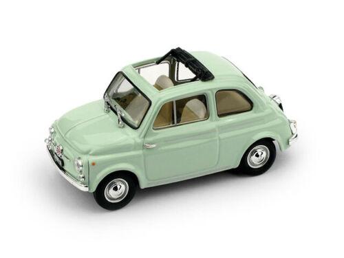 Fiat Nuova 500D 1960 Tetto Aperto Open Very Light Green Brumm 1:43 R404-13