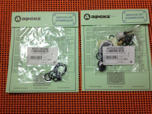 50 100 ATX 40 200 O-Ring Kit 1+2 Stufe für XTX 4 x Apeks Travel Kit