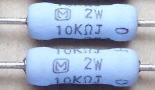2 Pcs Erg 2sj103 10k Ohm 2w Metal Oxide Power Resistors By Panasonic