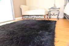 5'x6' faux fur rug Rectangle area rug Black Shaggy Premium Furry rug