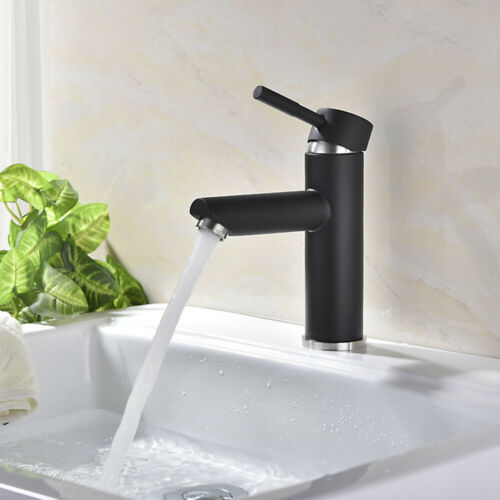 Edelstahl Mischbatterie Waschtisch Wasserhahn Badarmatur Weiß Schwarz Küche