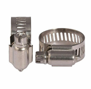 Details about 304 SS Adjustable Fixed Wire Worm Gear Screw/band Hose Pipe  Clamp Hoop Tube Clip