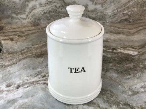 THL Sugar Or Tea Canister White With Black Letters New. You Choose