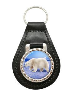 Polar-Bear-Cuir-Cle-Fob