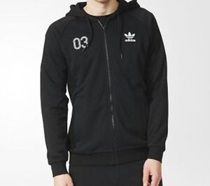 adidas originals classic hoodie tracktop size large