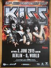 KISS 2015 TOUR  -  orig.Concert Poster  --  Konzert Plakat  A1