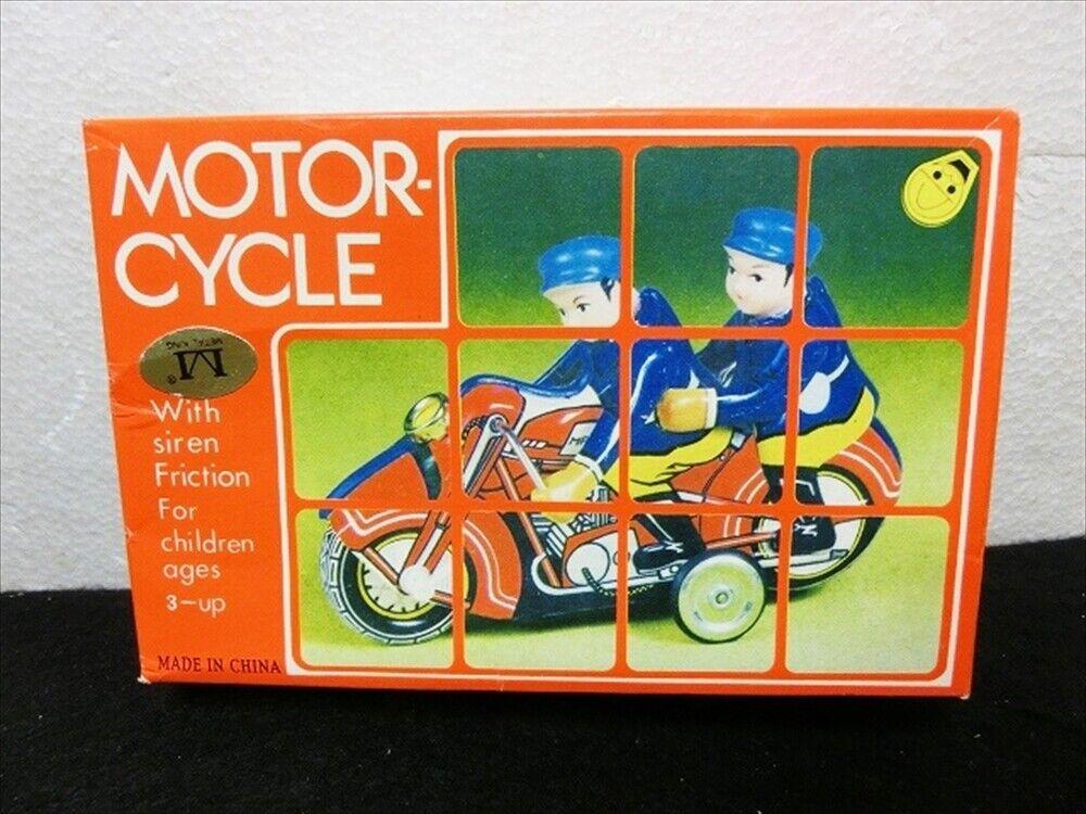 Auto Cycle Tinplate con scatola Vintage Antique non usato Motorcycle Bike F S Giappone