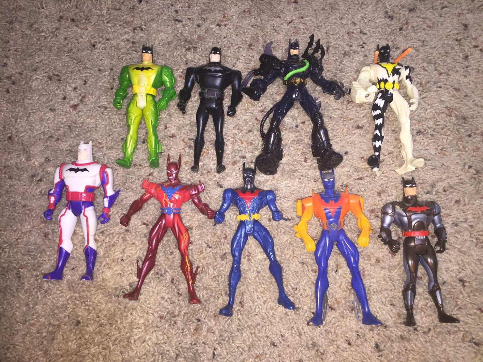 Lot of 9 Batman the Animated Series and Batman Beyond Action Figures Vintage 90s