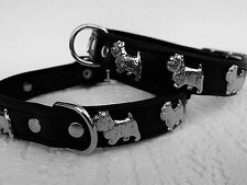 *WESTIE* Hundehalsband, LEDER, Halsumfang 36-42cm, Schwarz, NEU(PL.6-6-2-40)