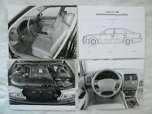 Transport Sammeln & Seltenes Lexus Ls 400-7x Presse-fotos Press-photos 01.1995 l0016 Attraktive Designs;