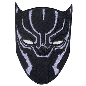Image is loading BLACK-PANTHER-Patch-Purple-VIBRANIUM-Mask-Iron-On- ba57def38838