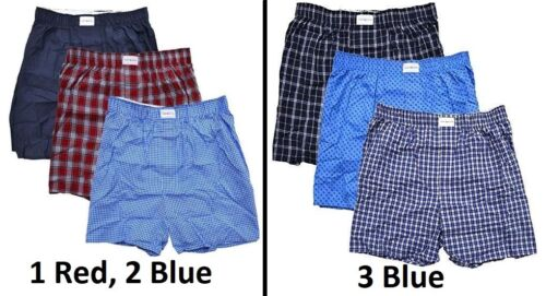 Brand New in Box Tommy Hilfiger Men/'s 3-Pack Woven 100/% Cotton Boxer
