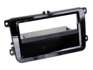 Radio-Einbauset-Auto-1-DIN-Blende-Adapter-VW-Scirocco-piano-black-incl-Canbus