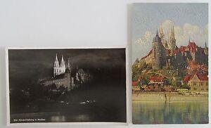 MEISSEN-Meissen-a-d-Elbe-Sachsen-2-x-Postkarte-1940-ungelaufen-Albrechtsburg