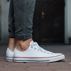 Details about Mens Converse Shoes White All Star Chuck Taylor LOW Top OX Optical White M7652