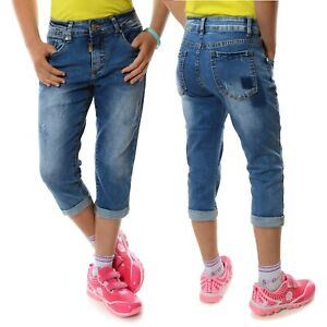 Mädchen Capri Shorts Kurzehose Stoff Bermuda Kinder Shorts 21415