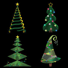 FREE SHIPPING CHRISTMAS TREE MEDLEY 3-5inch-12 Machine Embroidery Designs CD
