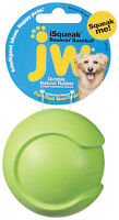 Jw Pet Isqueak Baseball Medium Dog Toy Rubber Squeaker Bouncing Free Ship In Usa
