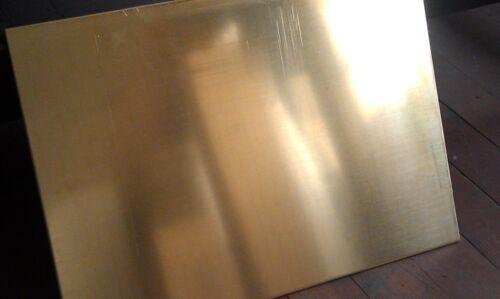 """Brass Sheet Plate .125/"""" 10 gauge 2/"""" x 12/"""""""