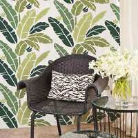 Banana Leaf Allover Stencil - Great For A Tropical Room Makeover