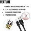 thumbnail 3 - 3 Pack 6Ft USB Charger Cable For iPhone 11 XR 8 7 Plus Fast Charge Charging Cord