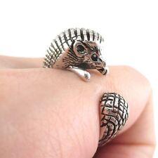 ARMADILLO wrap ring hedgehog mother cute mum gift animal rings her girlfriend