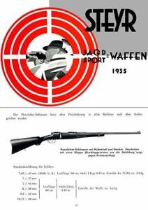 Details about Steyr-Mannlicher Schoenauer Repeating Sporting Rifles 1935  (in German-Catalog)