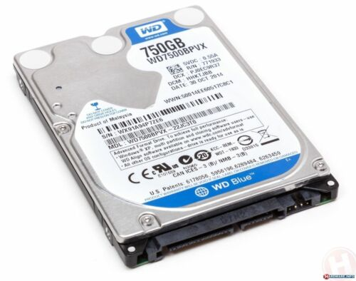 "FULLY TESTED 750GB 5400 RPM 2.5/"" Internal Laptop Hard Drive HDD HD"