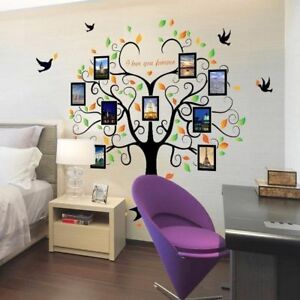 Family Tree Peel And Stick Wall Decal 9 Large Photo Frames Removable
