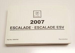 2007 cadillac escalade esv owners manual user guide v8 6 2l base awd rh ebay com 2007 escalade ext owners manual 2007 cadillac escalade owners manual free