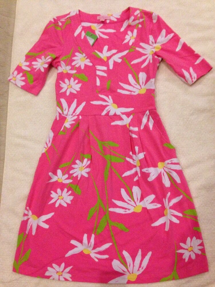 NWT Lilly Pulitzer Taluah Dress Hotty Pink Twirlers Size S