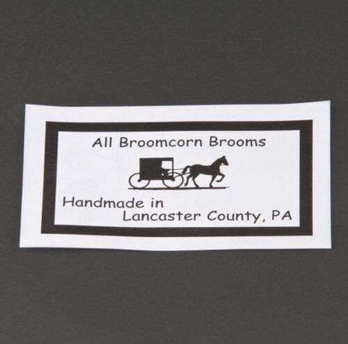 "55/""Natural Fiber Bristle Yucca Corn Parlor Broom /& Wood Handle/_Amish Made USA"