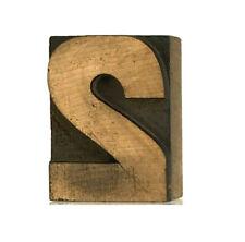 No Two 2 Wood Letterpress Print Type Number 2 Printers Block Cut 25 2 12