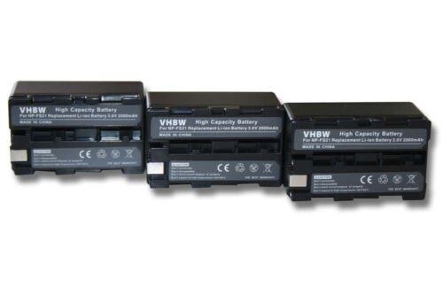 3x Batería 2200mAh Para Sony NP-F11//NP-FM11//NP-FS11