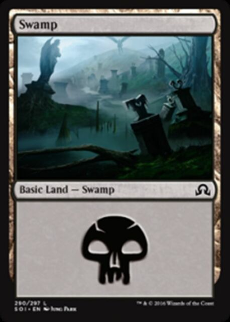 Magic the Gathering FOIL SWAMP x10 mtg mixed basic land cards