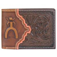 Hooey Punchy Western Mens Wallet Bifold Signature Tooled Brown 1627161w1