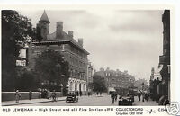London Postcard - Old Lewisham - High Street & Old Fire Station  V273