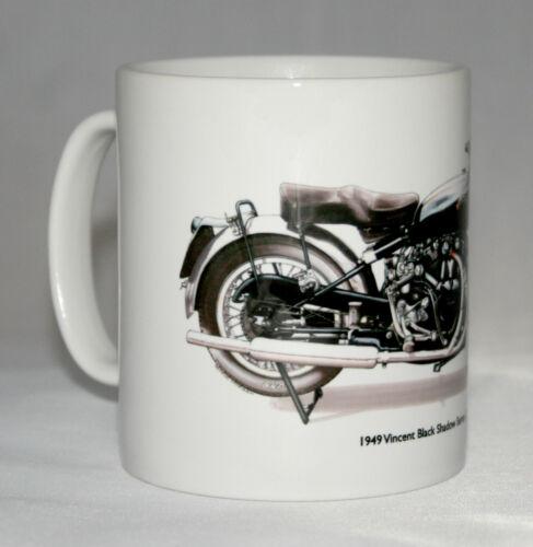 Motorbike Mug Vincent Black Shadow Series C hand drawn illustration.