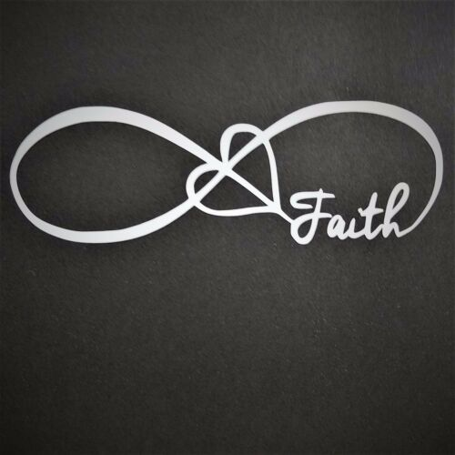 Infinity Symbol Faith Decal Vinyl Decal for laptop windows wall car boat