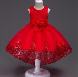 Details About Vestido Niña Princesa Fiesta Coctel Elegante Flores Boda Baile 2 12 Años
