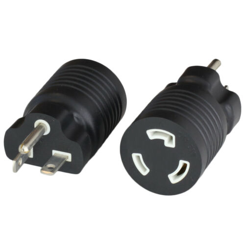 Adapter NEMA 6-20P to L6-20R 20A 250V BLACK World Cord Sets #AD-620L620