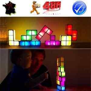 Original tetris lampe de bureau salon veilleuse decoration idee cadeau ebay - Veilleuse pour salon ...