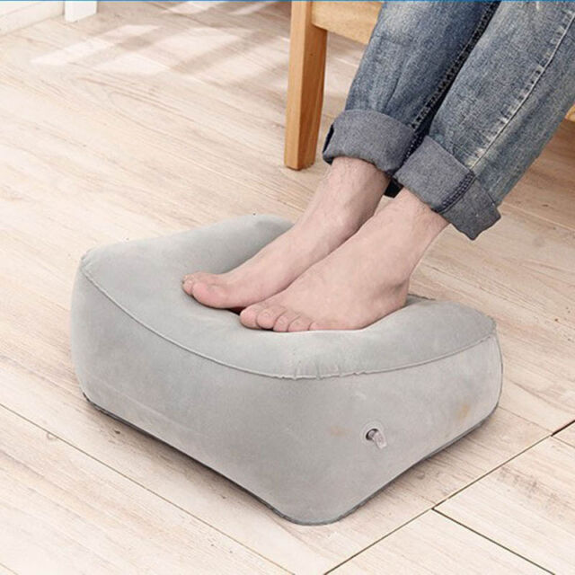 Inflatable Foot Rest Pillow Cushion Air Travel Office Home
