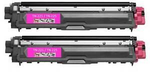 2PK Toner For Brother TN-221 TN-225 TN221 TN225 Magenta HL-3180CDW MFC-9130CW